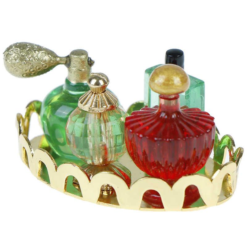 חדש 1/12 מיני בית בובות ריהוט בובת שינה אמבטיה בובות בית סולם ורוד בושם מגש ריהוט מיניאטורי דגם