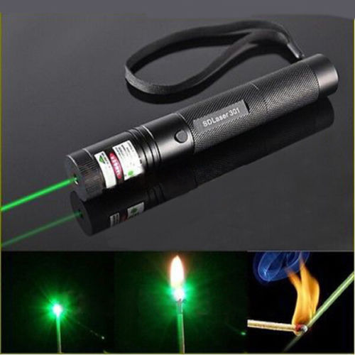 Focusable real power burning laser pointer high power visible beam laser pointers military burning laser Green