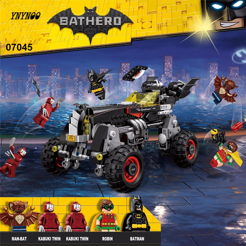 YNYNOO Lepin Batman 07045 559Pcs Genuine Superhero Movie Series The Batman Robbin`s Mobile Building Blocks Bricks Toys 70905