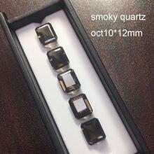 Природный дымчатый кварц tbj примерно 10 х12 мм природный драгоценный