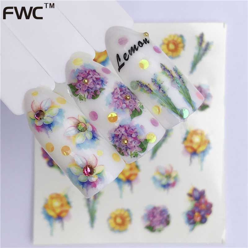 WUF 26 Styles Summer Fruit Strawberry Cherry Cake Ice Cream Nail Art Water Transfer Sticker Decor Slider Decal Manicure