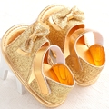 2015 Baby toddler First Walkers soft sole prewalker Shoes Gold and silver newborn baby girl antislip bebe sapatos