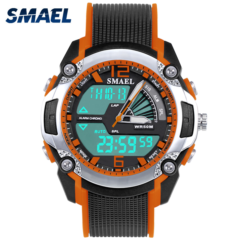 Orange Fashinal Cool Children Wristwatches For font b Kids b font Presents Gift Multifunction Child Electronic