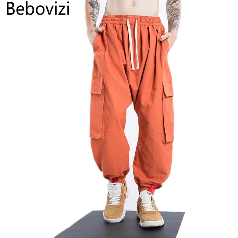 Bebovizi Brand 2018 New Style Men's Streetwear Trousers Pockets Comfort Lanterns Pants Hip Hop Baggy Joggers Harem Pants