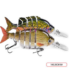 8CM 14G Multi Jointed Hard Bait Artificial Hook 8# Topwater Fishing Lure Ring Beads with Shifting Of Weight For Lake