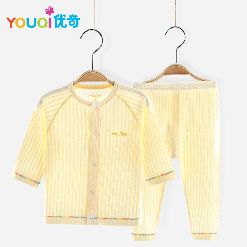 YOUQI Unisex Baby Clothes Summer Boys Clothing Set Girls Top Pants Suit Toddler Infantil Soft Pajamas Homewear Outfit For Babies set of clothes children girls boys baby clothing milk print 3pcs suit toddler kids christmas pajamas sleepwear top 2017 new