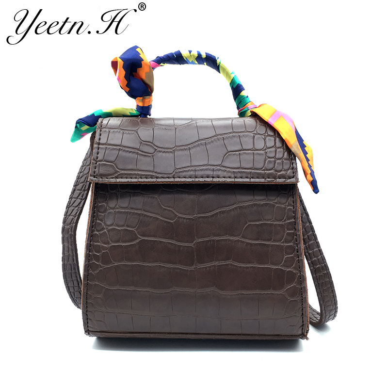 Yeetn.H Sosire Noua Fashion Women Bag Alligator PU din piele Vintage - Genți