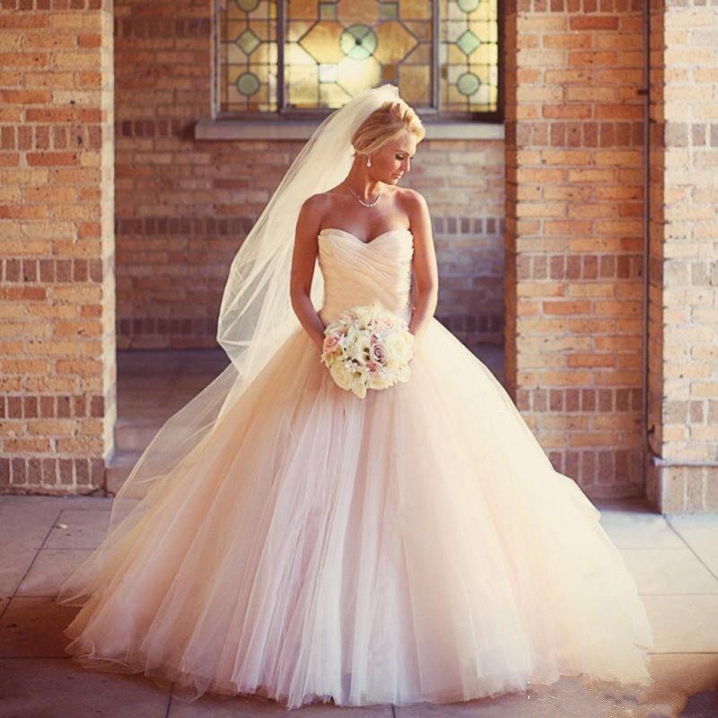 Tulle Simple ruché bretelles une ligne robes de mariée à glissière Vintage taille personnalisée