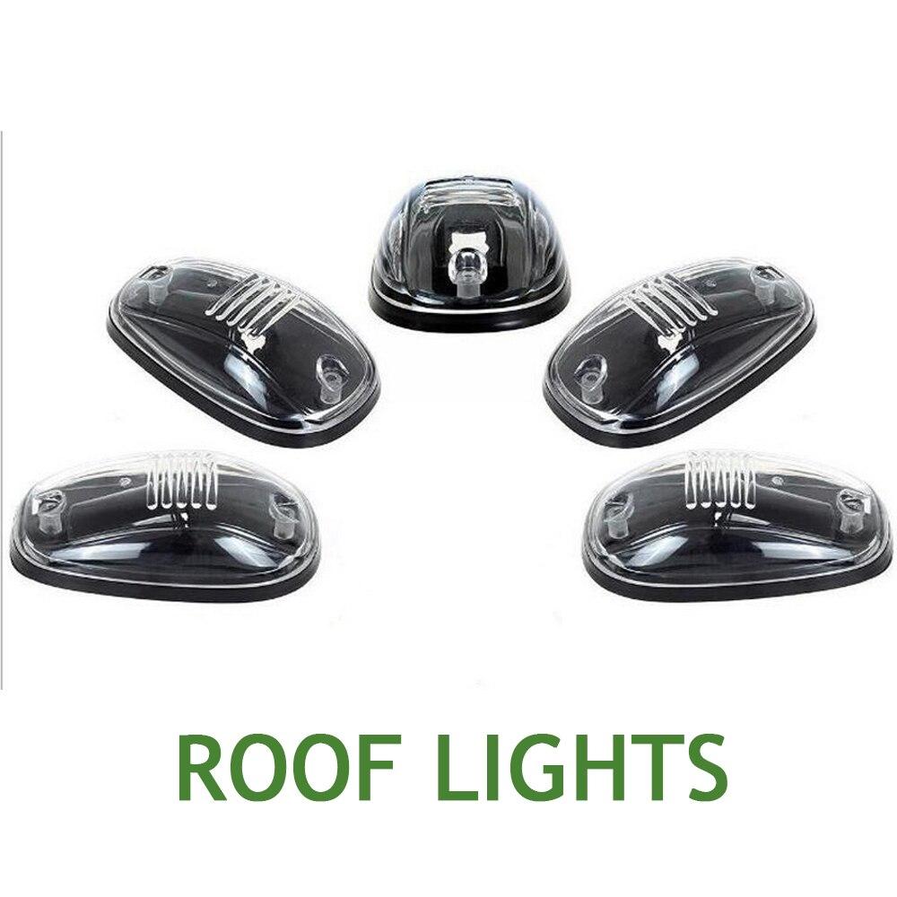 цена For Dodge Ford Truck 1set 5pcs Smoked LED Pickup truck lamp SUV Cab Marker Running Clearance Light Kit car Roof light онлайн в 2017 году