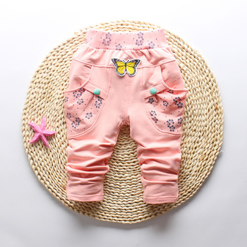 Butterfly Patterned Pants for Baby Girl 3