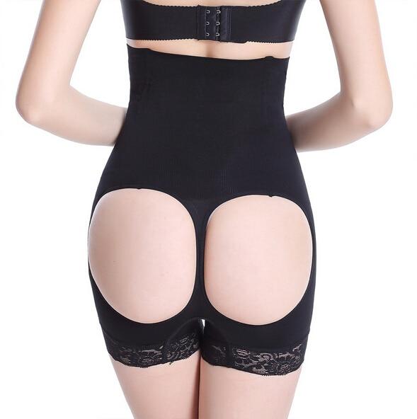2f03c8cf6d Double O boyshorts butt lifter tummy control women butt enhancer shapewear  sexy seamles high waist hip lift panties plus size