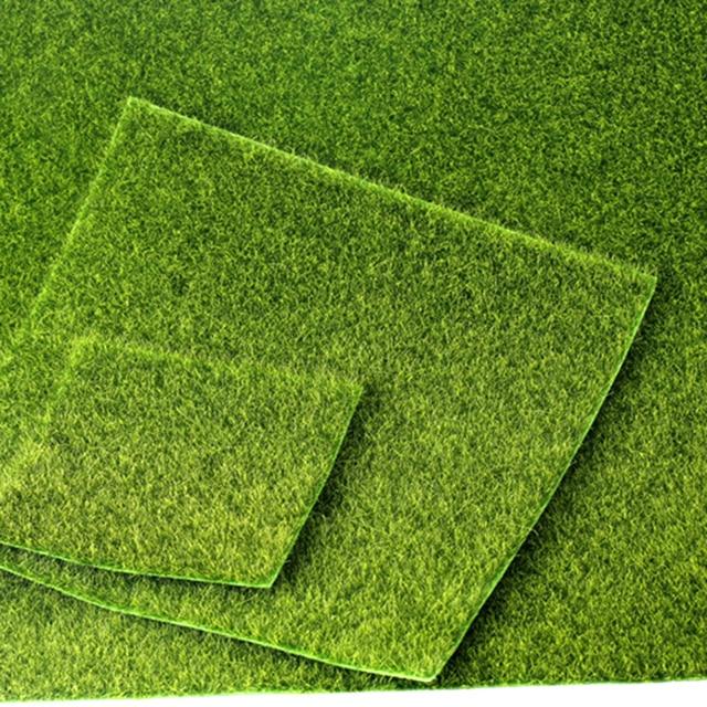 49x70 cm Realista Simulação Gramado Simulação Musgo Verde Tapete de Grama Artificial Para Decoração de Casamento Casa Jardim DIY acessórios