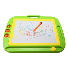 Magnetic Drawing Colorful Erasable Board Large Size Doodle Sketch Kids Educational Toys with Three Stamper For Boys/Girls Green