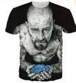 Plus size clothing entintado badass heisenberg camiseta 3d impreso tatuado vibrante breaking bad walter white t shirt summer tops