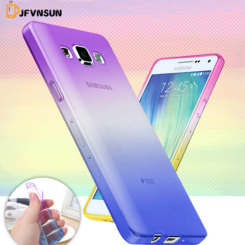 A3 A300 A5 A7 2015 New Soft TPU Gradient Color Phone Case for Samsung Galaxy A8 A9 J1 J5 J7 J3 2016 J710 Silicone Clear Covers
