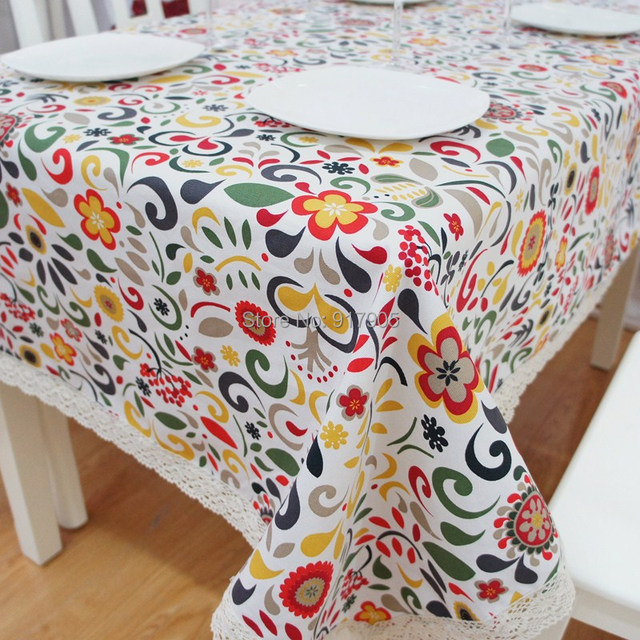 Bon Modern American Country Style Colorful Vintage Tablecloths Fashion Boho  Floral Table Cloth Elegant Table Covers For
