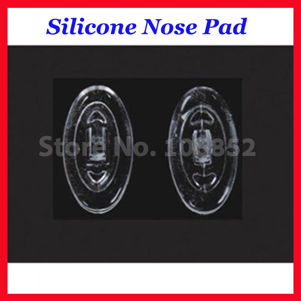 Retail 20pieces=10pairs Eyeglass Accessory Oval Silicone Nose Pads Size 11mm 12mm 13mm 15mm 16mm Screw In Push In Free Shipping