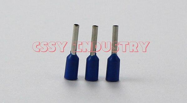25 шт./партия, E50-20, набор наконечников для обжимной разъем для проводов, Изолированный Шнур, концевой терминал, 5 цветов - Цвет: blue 25pcs