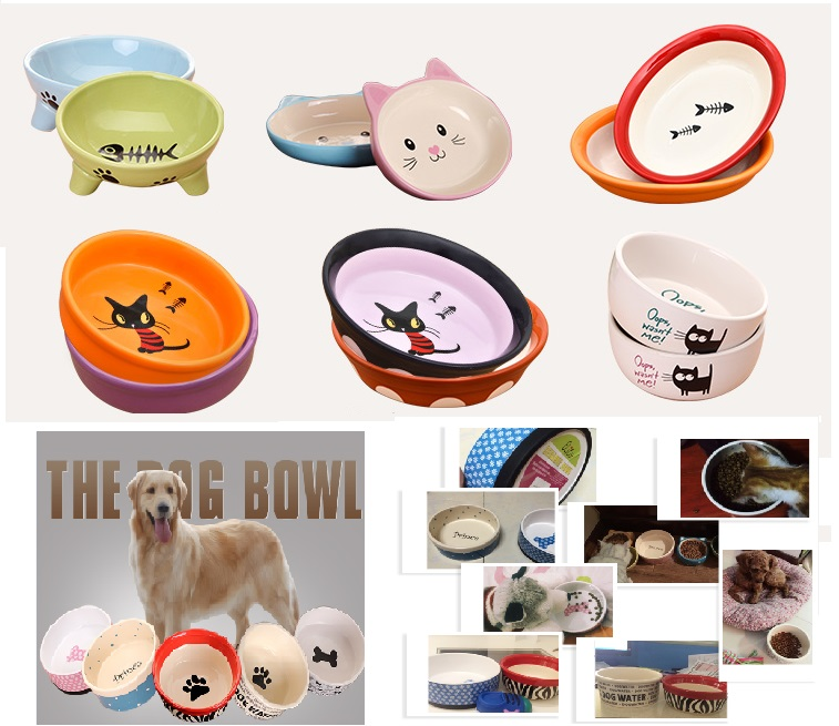 Pet Feeders Ceramic Dog Bowls For Small And Medium Cat