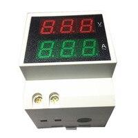Digital LED AC Voltmeter Ammeter AC200 450V AC0 100A Voltage Current Meter Dual Display Panel Energy Meter Tester Monitor