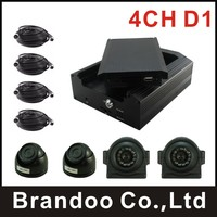 DIY Installation 4 CHANNEL MDVR Kit With Dome Camera And Side View Car Camera Waterproof HDD