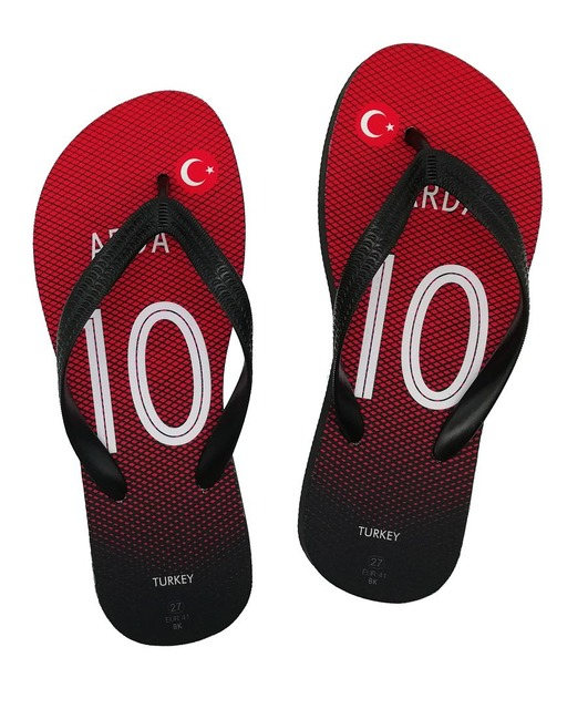 a0f3ca9208c Turkey national team soccer slippers any name flip flops football theme  swimming gift towel beach shoes