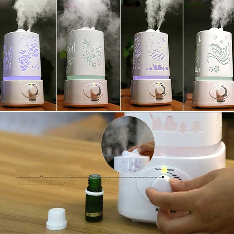 1.5L Ultrasonic Air Aroma Humidifier With LED Lights Electric Aromatherapy Essential Oil Aroma Diffuser