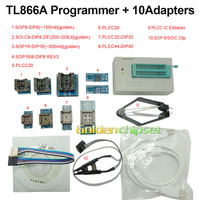 TL866A USB Programmer EPROM EEPROM 8051 AVR MCU FLASH BIOS 8 1 Adapter Extractor Free Shipping