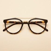 Cubojue Tortoise TR90 Glasses Frame Men Women Double Bridge Eyeglasses Man Fashion Vintage Eyewear for Prescription Spectacles