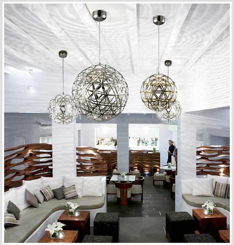 firework stainless steel chandelier led lamp loft 2