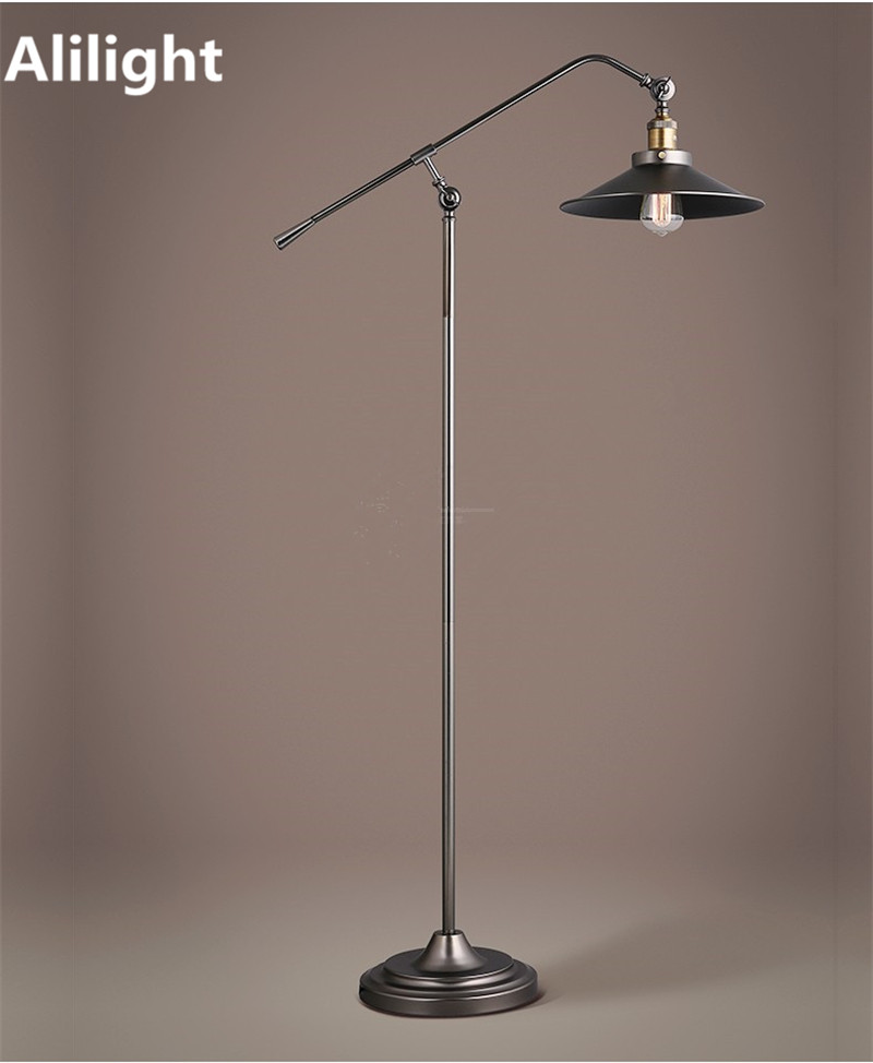 Vintage Kurze Loft Stil Langen Arm Stehleuchte Eisen Boden Licht Stehend Lampe Fr Arbeitszimmer Foyer Schlafzimmer
