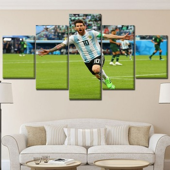 Unique Gift Top-Rated Canvas Printing Wall Art Lionel Messi In FIFA 2018WorldCup Poster HD  Framed Home Decorative Living Room