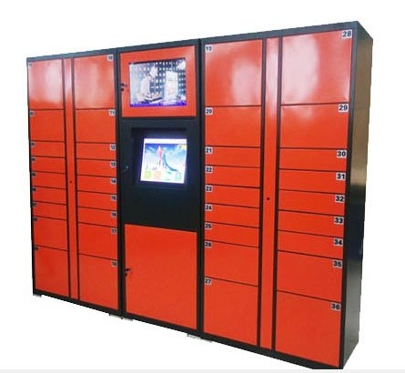 Self-service Barcode QR Code Password Parcels Station Delivery Express Storage Cabinets Smart Electronic Lockers Safes