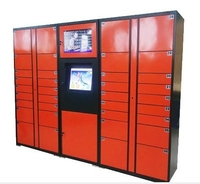 Self service barcode QR Code password parcels station delivery express storage cabinets smart Electronic lockers safes