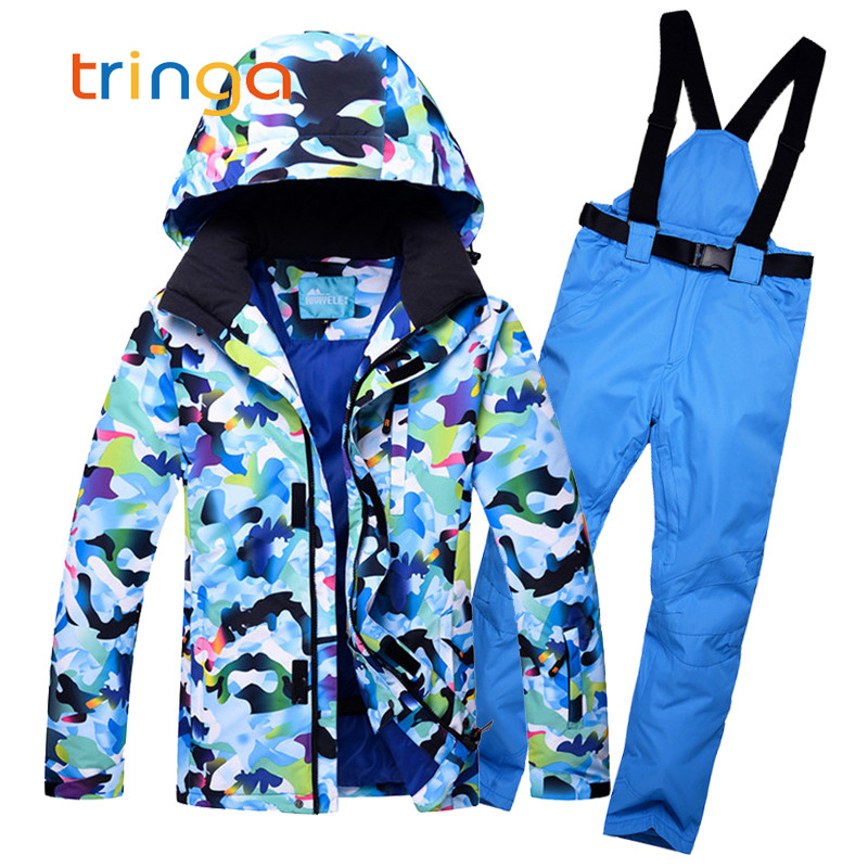 Men's Skiing Suits Outdoor Windproof Waterproof Thermal Snowboarding Jackets+Pants Male New Winter Outdoor Ski Sets For Man