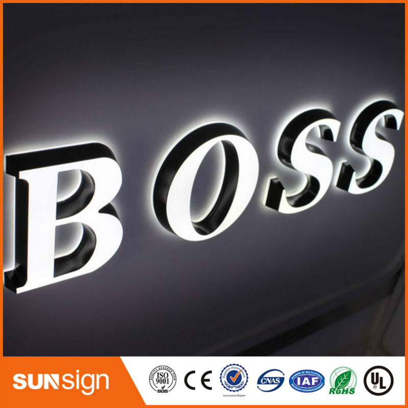 High Brightness Frontlit Acrylic Led 3d Letter Sign