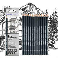 Sketch drawing pencil set 1B 2B 3B 4B 5B 6B 7B 8B 10B 12B HB 2H 4H 6H fourteen different kind of pencils in box