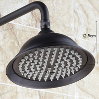 Free Shipping 8 Inch High Quality Shower Heads Oil Rubber Black Finish G1 2 Rainfall Shower