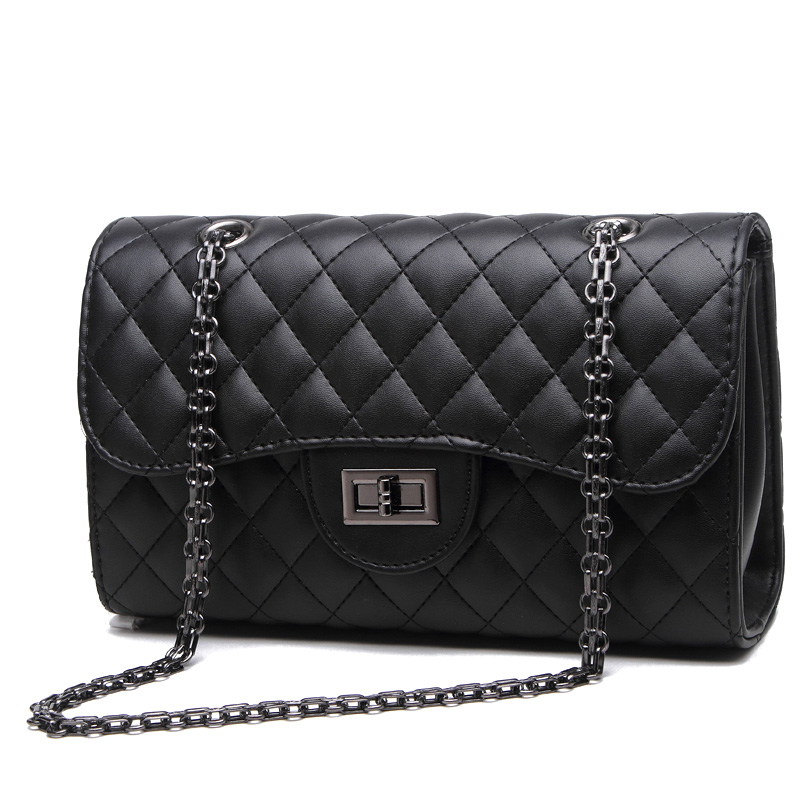 Fashion Women Handbag Luxury Designer Plaid PU Leather Shoulder Messenger Bag Lady Classic Quilted Chain Crossbody A0324 - A&L Store store