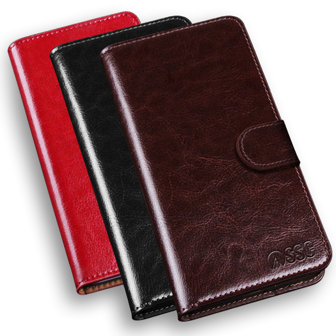 Explay Hit Case Luxury PU Leather Case Skin For Explay Hit Flip Cover Mobile Phone Cover with card holder and stand function