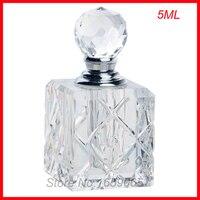 새로운 5 미리리터 화장품 향수 병 크리스탈 유리 에센셜 오일 메이크업 용기 작은 퍼퓸 분무기 perfumeros 용기