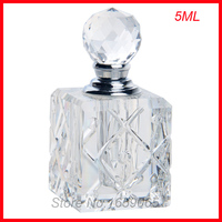 NUEVA 5 ml cosméticos botella de perfume de cristal de aceite esencial de vidrio envases de maquillaje pequeño atomizador del Parfum perfumeros contenedores