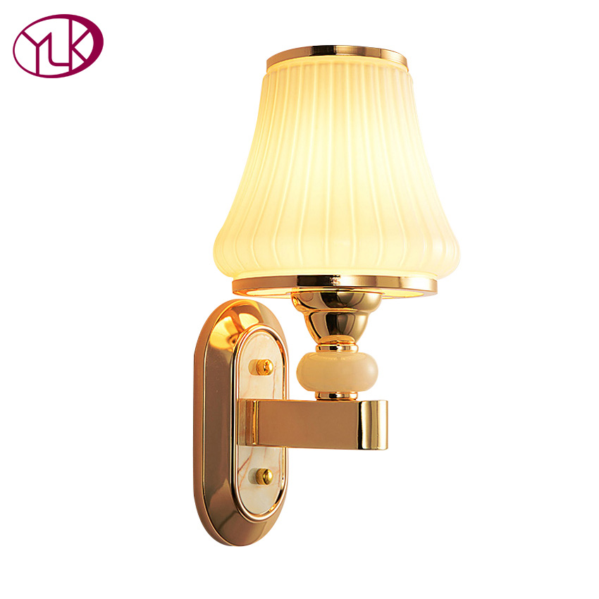 Free Shipping High Quality Modern Wall Lamp For Hallway Living Room Bedroom Glass lampshade light Guaranteed 100%