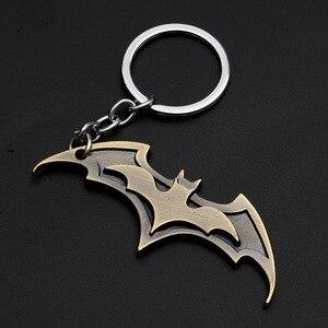 Супергерой, Бэтмен, фильм, металлический брелок, Мстители, Бэтмен, логотип, брелок, аниме фигурка, подвеска, брелок, рождественский подарок