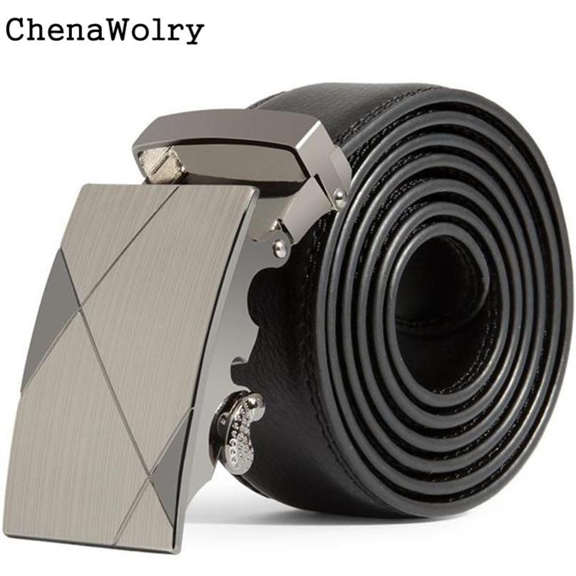 ChenaWolry Gift Fashion Accessory Elegant Luxury Men Leather Automatic Buckle Belts Fashion Waist Strap Belt Waistband