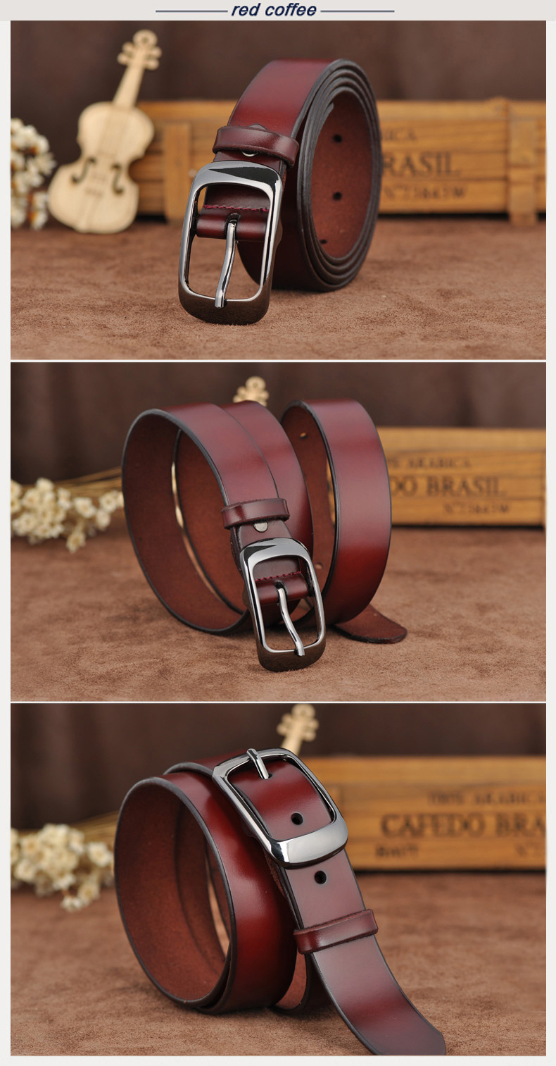MEDYLA Female belt Women genuine leather fashion all-match belt women's cowhide casual pants belt