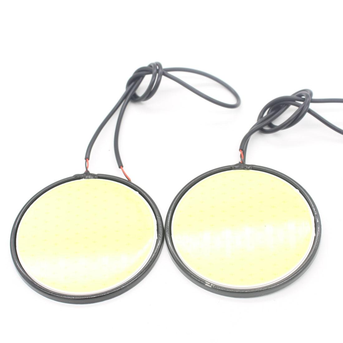 2X Auto Car LED COB Daytime Running Light Warning Turn Signal Light Fog Reverse Light Interior