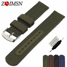 ZLIMSN Watch Band Strap Nylon Mesh Watchbands Women Men Sport Watches Belt Accessories Relojes Hombre 2018 20mm 22mm 24mm Soft(China)