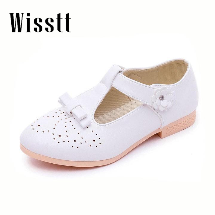 2017Children Shoes Girls Shoes Artificial leather Autumn Fashion Princess Kid Single Sandals Shoes For Girls