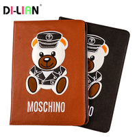 Emboss Panda Pattern Magnetic PU Leather Flip Wallet Case For IPad Mini 1 2 3 Mini1